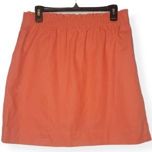 J Crew Factory Sidewalk Linen Paperbag Waist Skirt